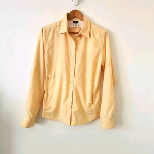 Patagonia s10 button up yellow shirt